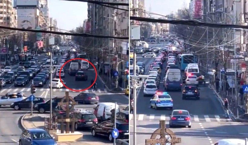 Un şofer cu BMW a încercat să scape de Poliţie în traficul din Bucureşti