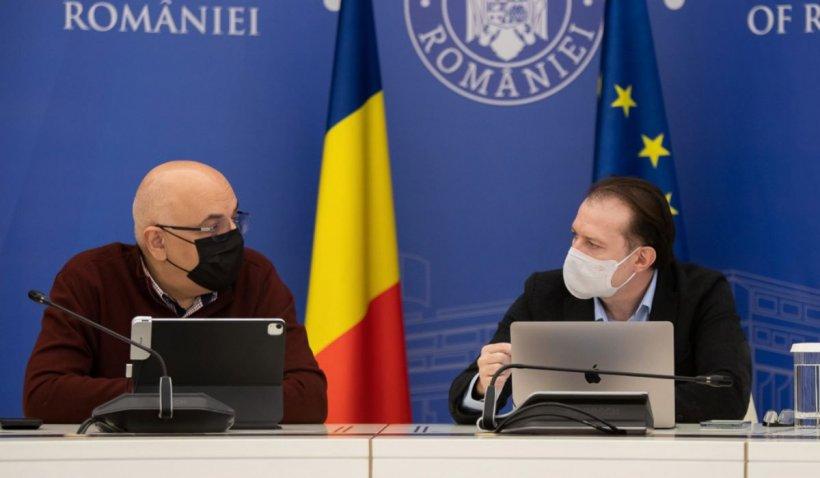 """Florin Cîţu şi Raed Arafat, şedinţă CNCCI: """"Ne pregătim pentru un număr mai mare de cazuri"""""""