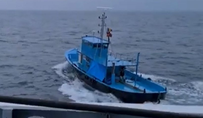 Vas turcesc, surprins la pescuit ilegal în apele româneşti. Garda de Coastă a deschis focul   VIDEO