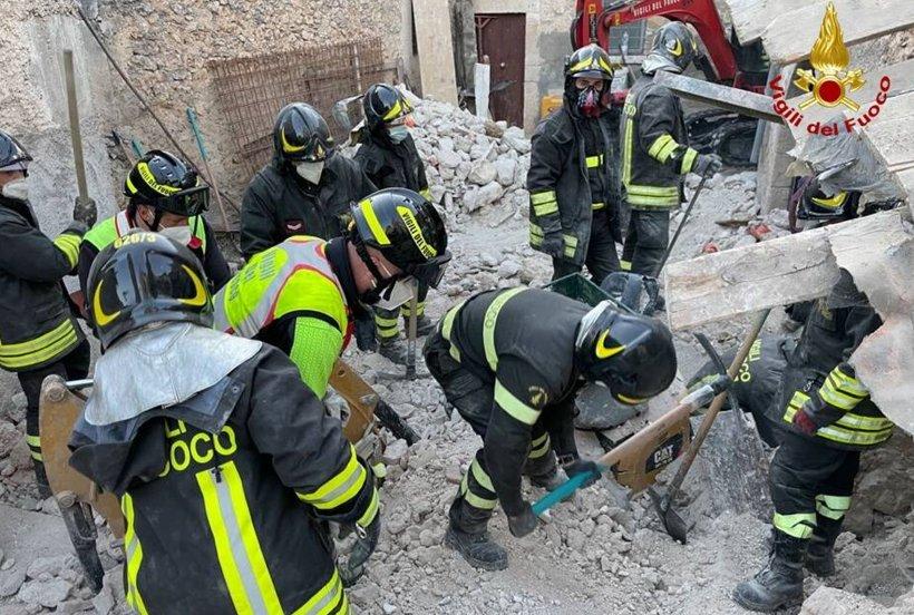 Un român a murit după ce a strigat ore în şir după ajutor sub zidurile unei case care s-a prăbuşit în Italia