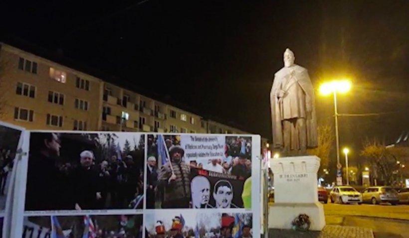 Panouri care promovează autonomia ținutului secuiesc, montate în Târgu Mureș cu autorizație de la primărie | VIDEO