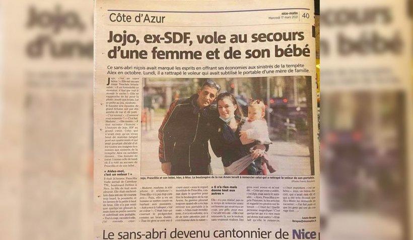 Jojo, un cerșetor român, a devenit erou în Franța pentru a doua oară în doar câteva luni