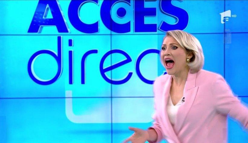 Mirela Vaida atacată cu un bolovan, în direct, în timpul emisiunii Acces Direct