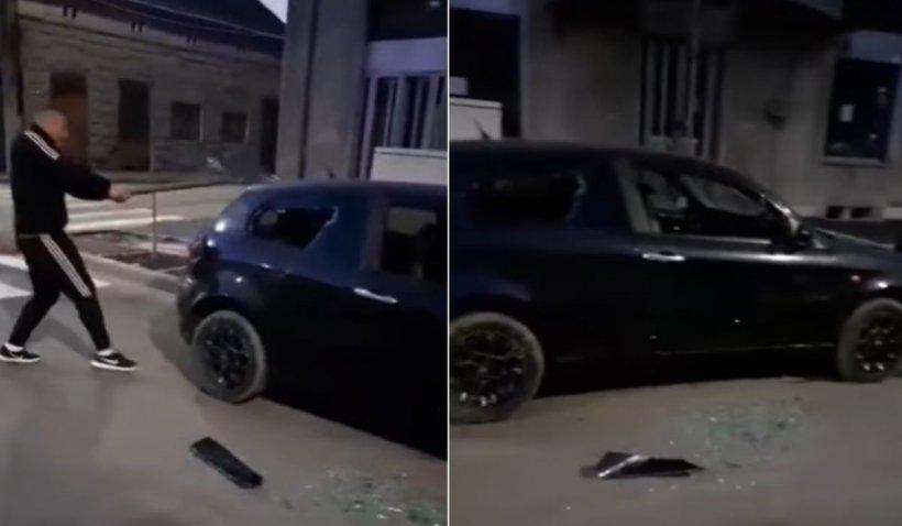 """Un tânăr şi-a distrus singur maşina, după ce a luat ţeapă: """"Ţi-a fugit iubita? Apelează la noi!"""""""