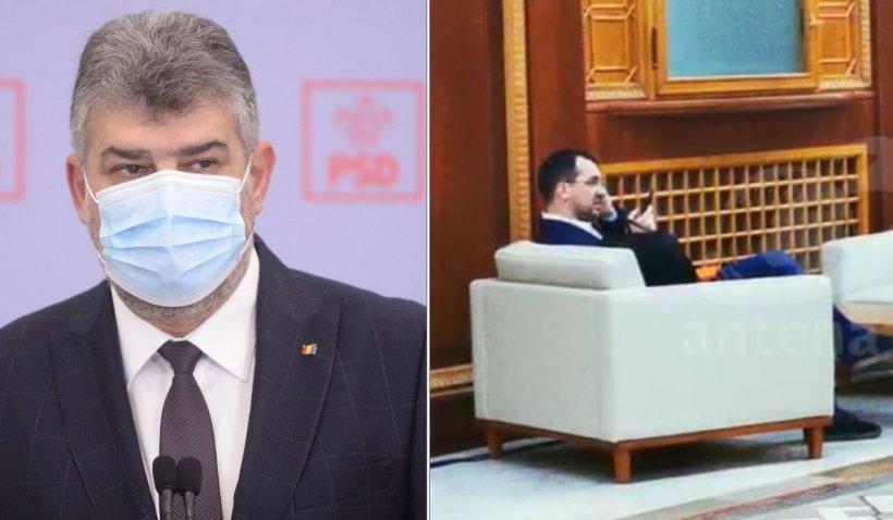 """Marcel Ciolacu: """"Voiculescu taie frunză la câini fără mască prin Parlament"""""""