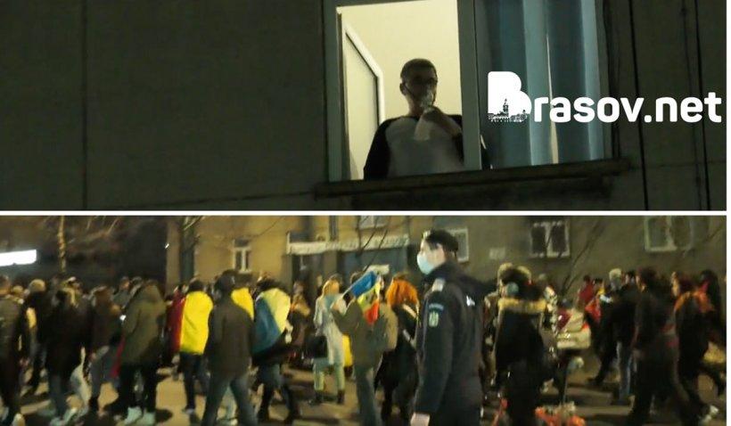 """Mircea Florescu, un pacient COVID-19, le răspunde protestatarilor de pe balconul spitalului: """"Nu puteam nici apă să beau!"""""""