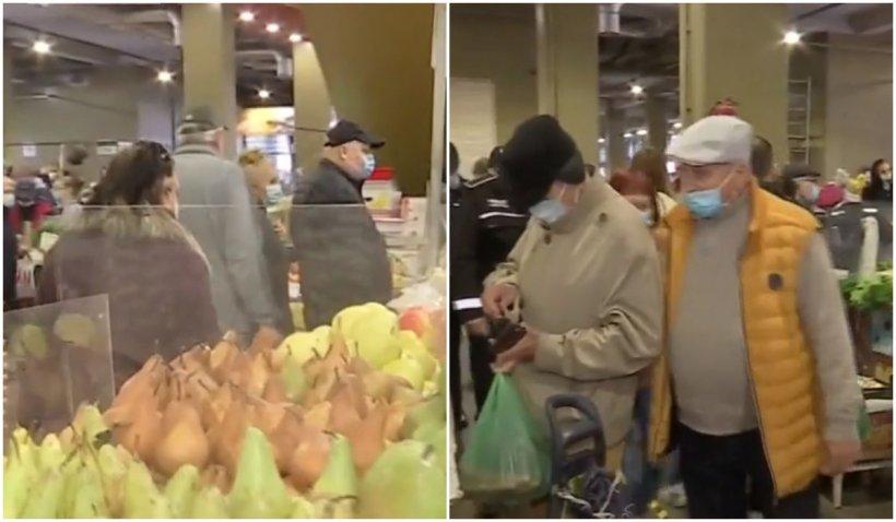 Aglomerație în piețe și supermarketuri. Oamenii s-au înghesuit să își facă aprovizionarea până la ora 18.00