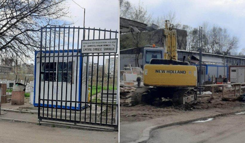 """Cimitirul Evreiesc și-a vândut o parte din teren pentru a se construi o benzinărie. Fundația Eco-Civica: """"Se vând morții pentru benzinării"""""""