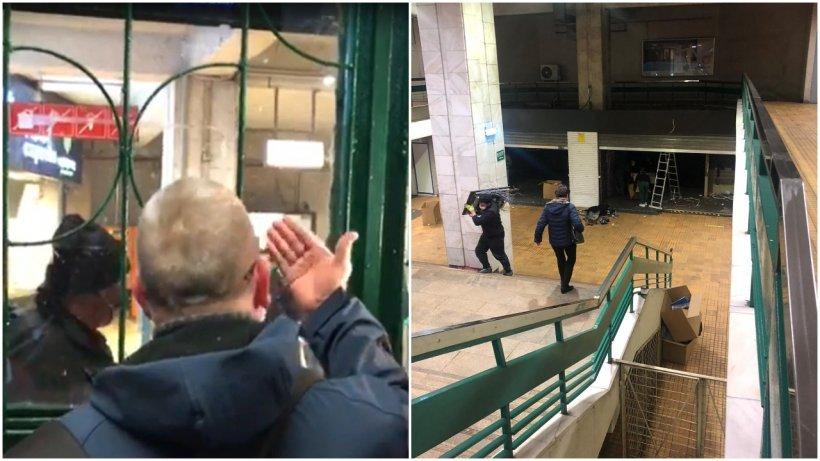 Evacuarea spaţiilor comerciale de la metrou a continuat și joi noapte. Stația Pipera, închisă mai devreme pentru a începe demolarea
