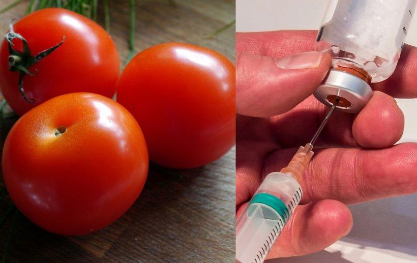 Persoanele vaccinate cu AstraZeneca, sfătuite să mănânce roșii