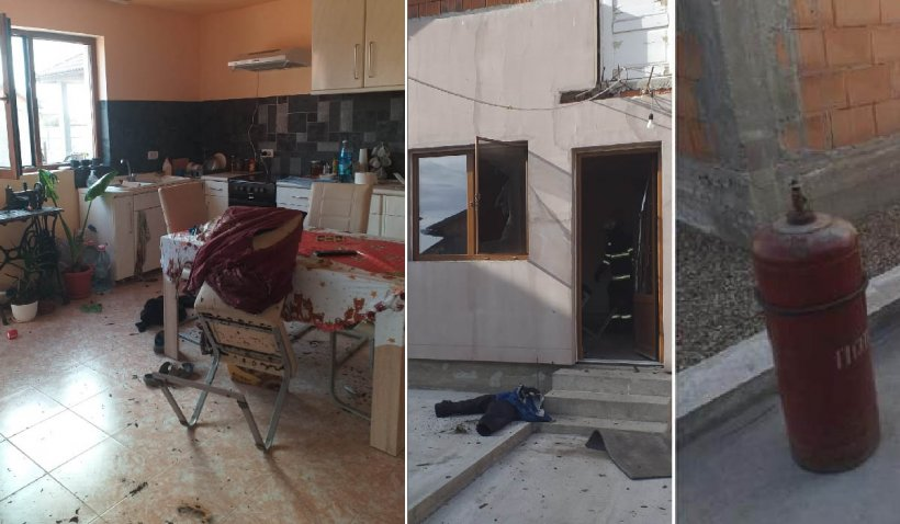 Un bărbat din Arad a ajuns la spital după ce a verificat o butelie cu un chibrit aprins