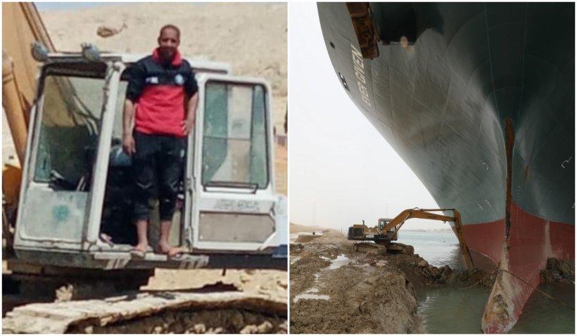 Eroul care a deblocat cu excavatorul Canalul de Suez încă nu și-a primit banii