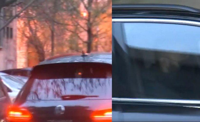 Vlad Voiculescu a plecat de la minister pe uşa din spate, într-o maşină cu geamuri fumurii