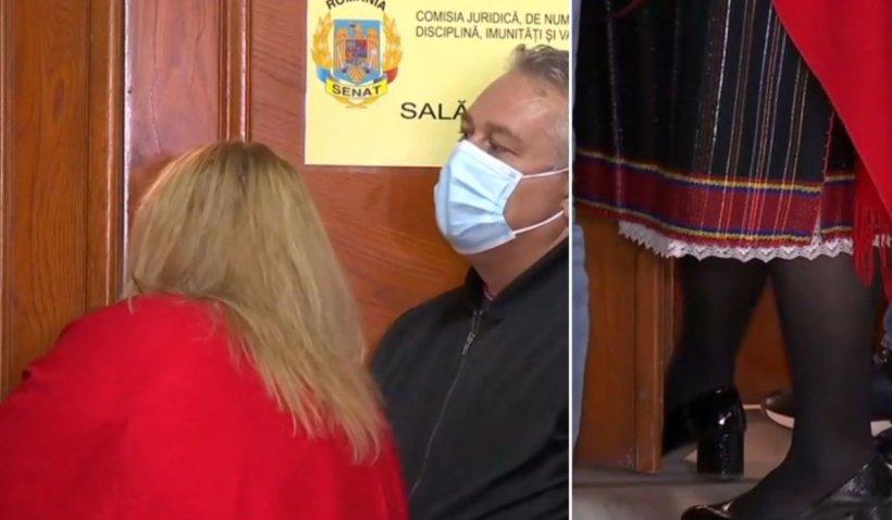 Membrii Comisiei Juridice s-au încuiat cu cheia în sală, de teama senatoarei Diana Șoșoacă