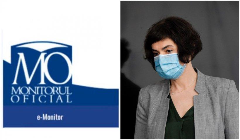 Numerele de telefon ale unor medici români, publicate în Monitorul Oficial de fostul secretar de stat Andreea Moldovan