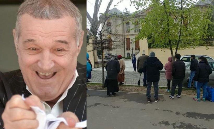"""Palatul lui Gigi Becali, luat cu asalt înainte de Paști! Oamenii au venit să participe la tradiționala împărțire de """"cash"""""""