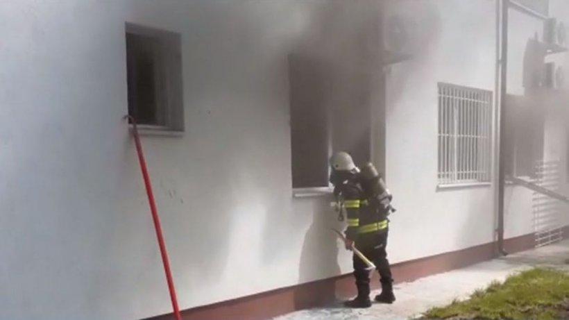 Imagini şi informaţii noi despre incendiul de la Spitalul Județean Slatina
