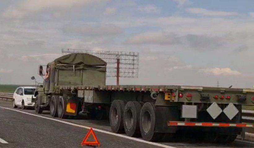 Vehicul militar american, implicat într-un accident rutier pe autostrada A2