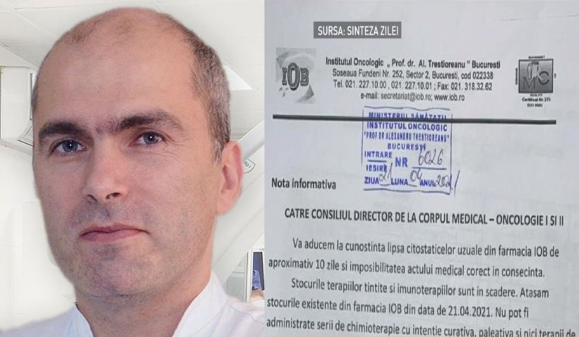 """Dr. Bogdan Tănase, managerul Institutului Oncologic: """"Şansele bolnavilor de cancer nu se modifică după o săptămână de întrerupere a tratamentului"""""""