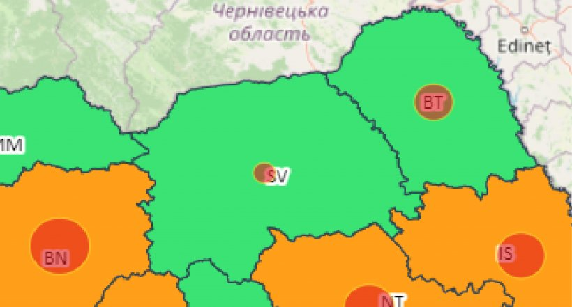 Nicio localitate din Suceava nu se mai află sub cod roșu de la începutul pandemiei