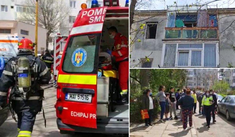 Explozie urmată de incendiu într-un apartament din Constanţa, două femei au nevoie de îngrijiri medicale