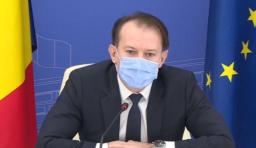 """Premierul Cîţu despre evoluţia pandemiei: """"E clar, ce a fost mai greu a trecut"""""""