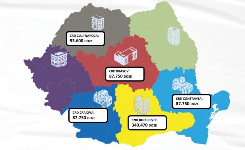 Aproape 700.000 de doze de vaccin Pfizer vor ajunge marți în România
