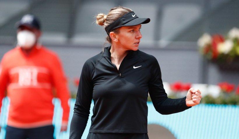 Simona Halep, victorie rapidă la Madrid: S-a calificat în optimile turneului în 80 de minute