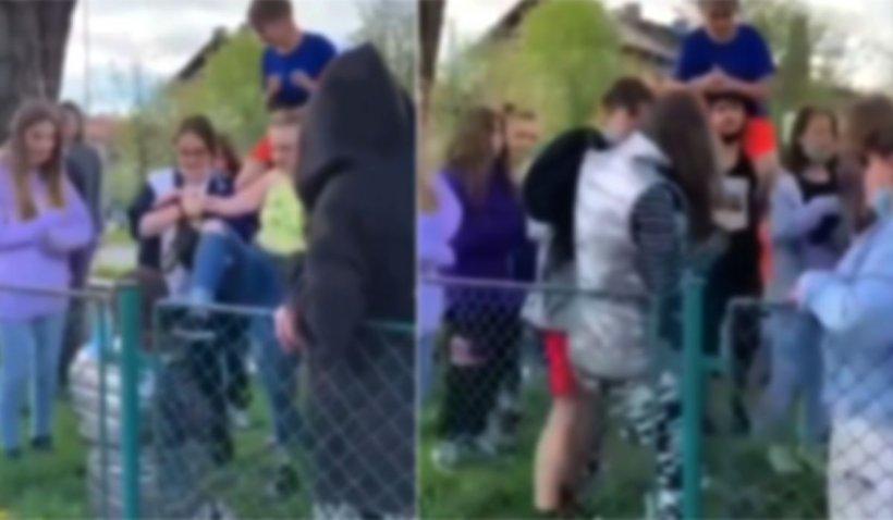 Fată umilită şi bătută de mai mulţi adolescenţi, într-un parc din Braşov
