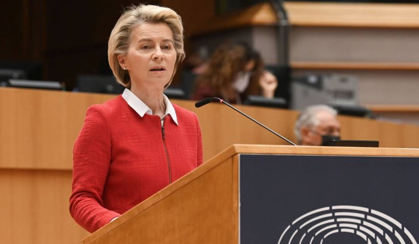 """Ursula von der Leyen: """"Un sfert dintre europeni au primit prima doză de vaccin"""""""