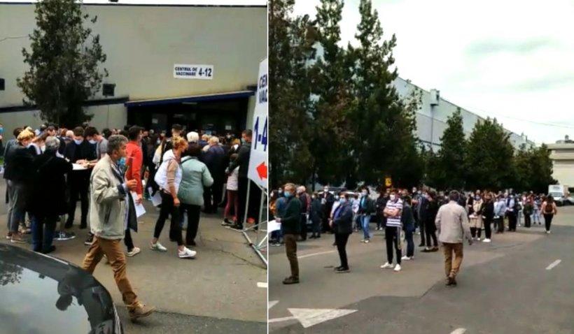 Cozi uriașe la centrele de vaccinare Romexpo și Palatul Copiilor după ce Registrul Național de Vaccinare a fost blocat două ore