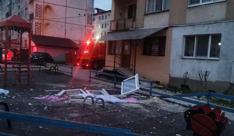 Explozie uriaşă într-un bloc din Sighetu Marmaţiei