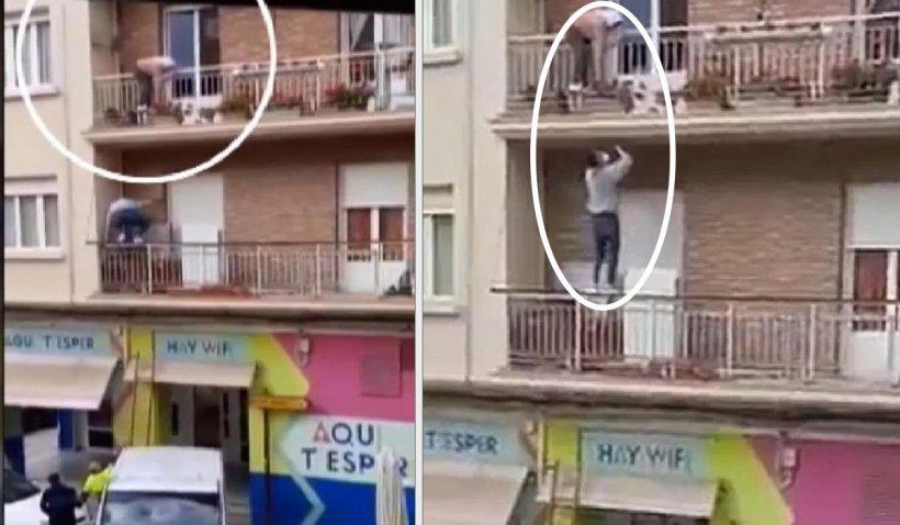 Salvare contracronomentru în Spania, după ce o româncă a ameninţat că se aruncă de la balcon