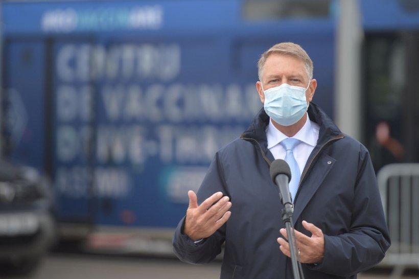 """Klaus Iohannis: """"Astăzi vom depăși 100.000 de persoane vaccinate într-o zi"""""""