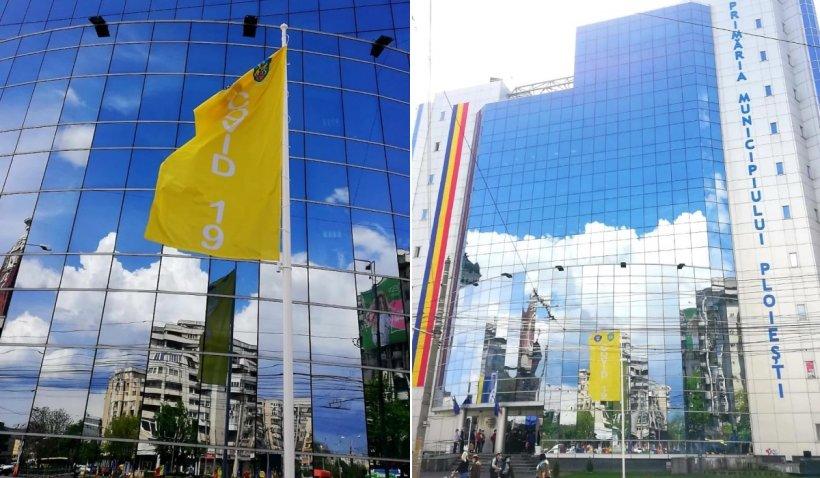 Primăria Ploieşti a arborat în faţa clădirii un steag ce va indica scenariul în care se află oraşul, în funcţie de rata de infectare cu COVID-19