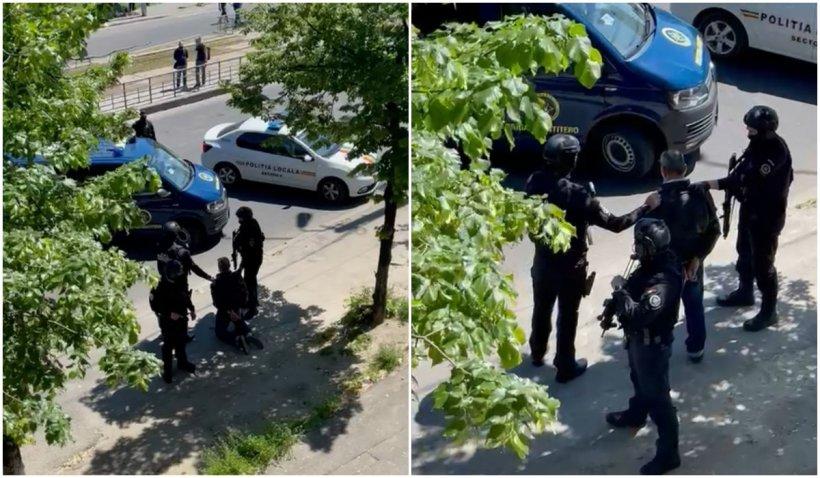 Un bărbat înarmat cu un cuțit a amenințat călătorii, într-un autobuz din București