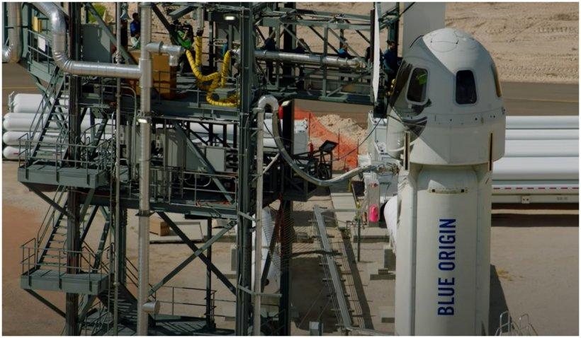 Blue Origin va trimite pentru prima dată oameni în spațiu pe 20 iulie