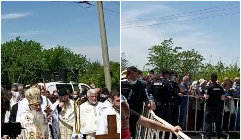 Mii de români s-au înghesuit să ia agheasmă și au uitat de regulile pandemiei
