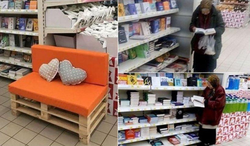 Surpriză pentru o bătrână care mergea la supermarket special ca să citească