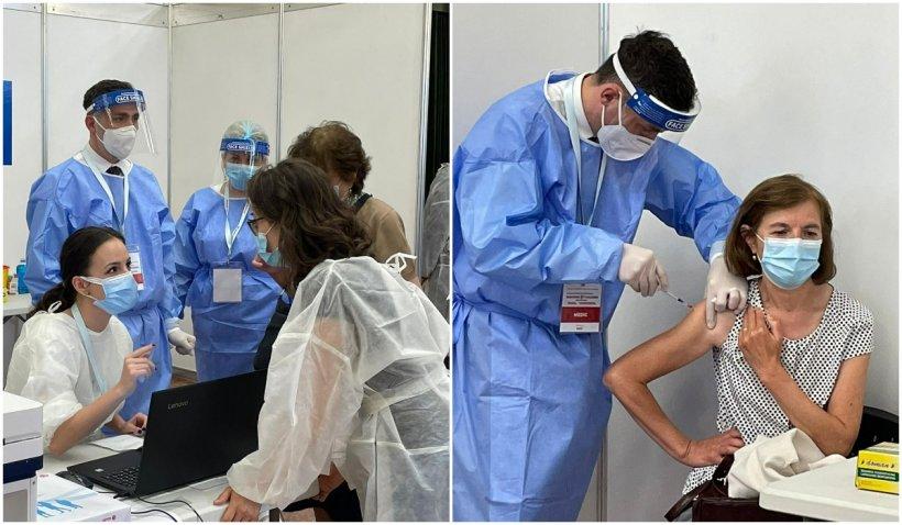 Valeriu Gheorghiță vaccinează personal românii care merg să se imunizeze la Maratonul de la București