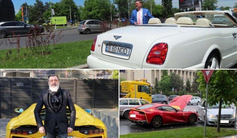 Milionarul Dan Nicorescu şi-a tamponat Bentley-ul la o zi după ce a rămas fără baterie la Ferrari