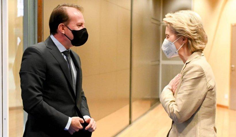 """Cîțu, după întâlnirea cu Ursula von der Leyen: """"A fost foarte constructivă. Facem progrese în reformele propuse"""""""