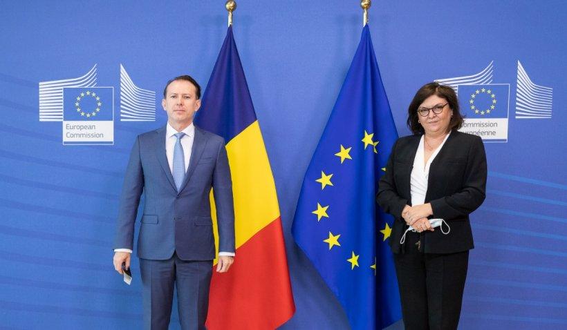 Ce a discutat Florin Cîțu, la Bruxelles, cu Adina Vălean, comisar european pentru transporturi