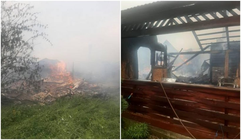 Cinci gospodării au ars într-un incendiu puternic în județul Suceava