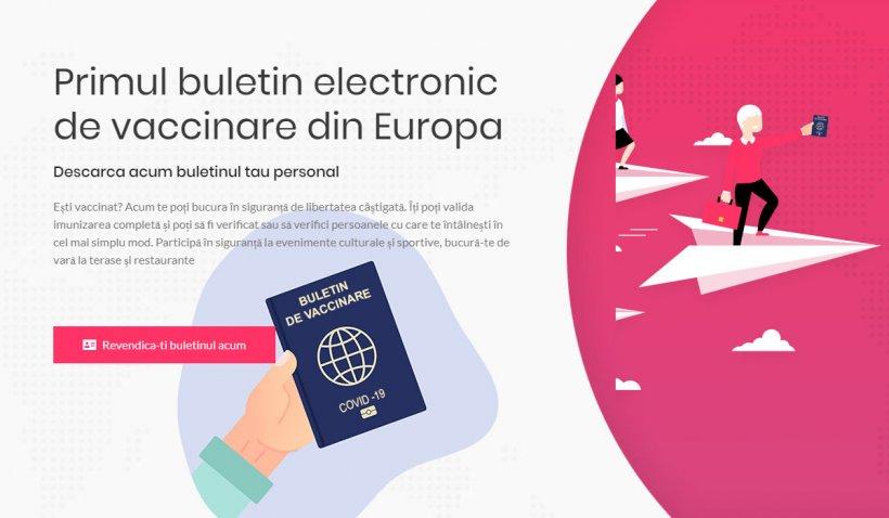 O echipă din Sibiu lansează buletinul electronic de vaccinare, primul certificat de acest tip din Europa