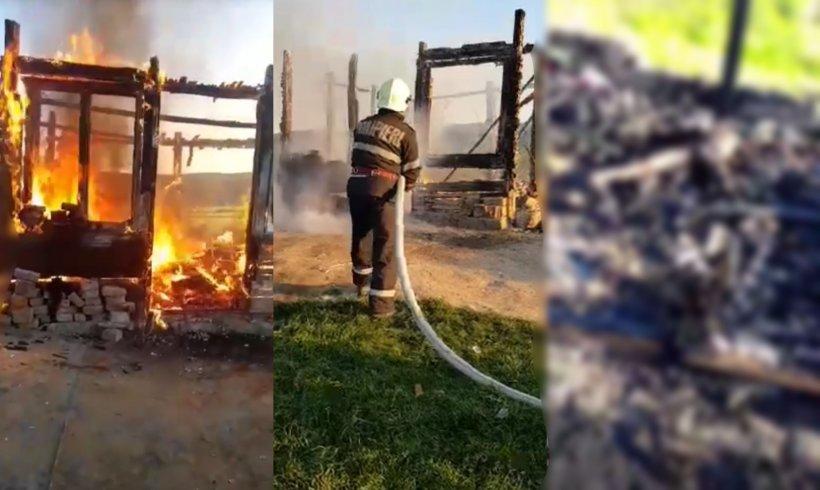 Un tată a patru copii din Mureş, răpus de cancer, a ars în sicriu în timpul priveghiului