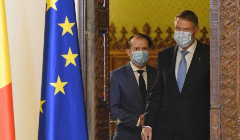Klaus Iohannis și Florin Cîțu s-au contrazis pe tema relaxărilor. Președintele a ținut să dea veștile bune