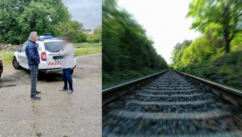 Un piteștean a stat întins două ore pe calea ferată. A fost ridicat de acolo cu doar trei minute înainte să treacă trenul