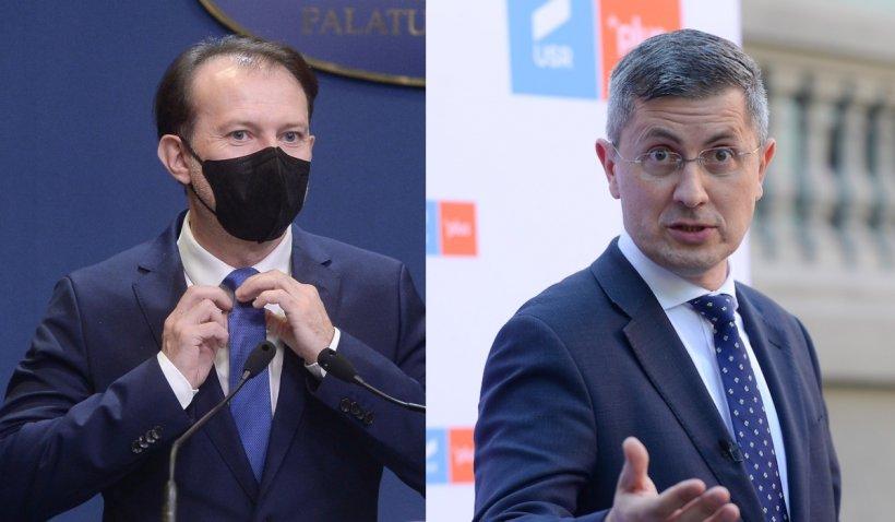 """Ce fac politicienii în prima zi de relaxare a restricțiilor: Premierul Cîțu și Dan Barna merg la spectacolul """"Dineu cu proști"""" la TNB"""
