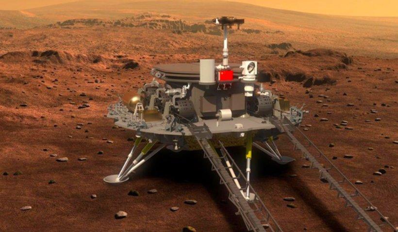 China a reușit, în premieră, să pună cu succes un robot pe suprafaţa planetei Marte